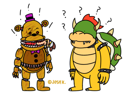 Fredbear, Toad, Bowser